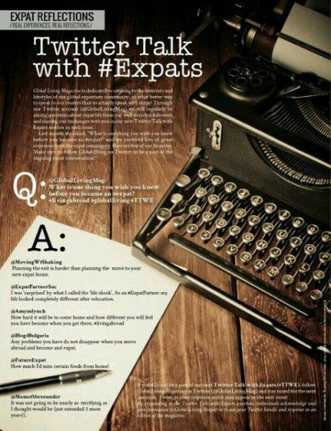 Global Living Mag Expat Twitter Talk (2014).