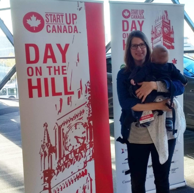 Amy Maureen Lynch and Baby at Startup Conference in Canada