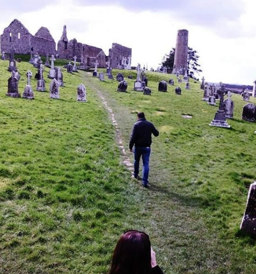 Amy and Husband in Clonmacnoise Ireland 2013 | Notes From Another Land