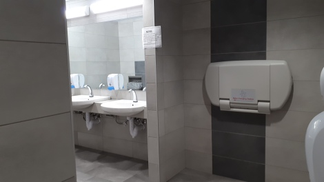 Algonquin College DARE District Womens Washroom with baby change facilities