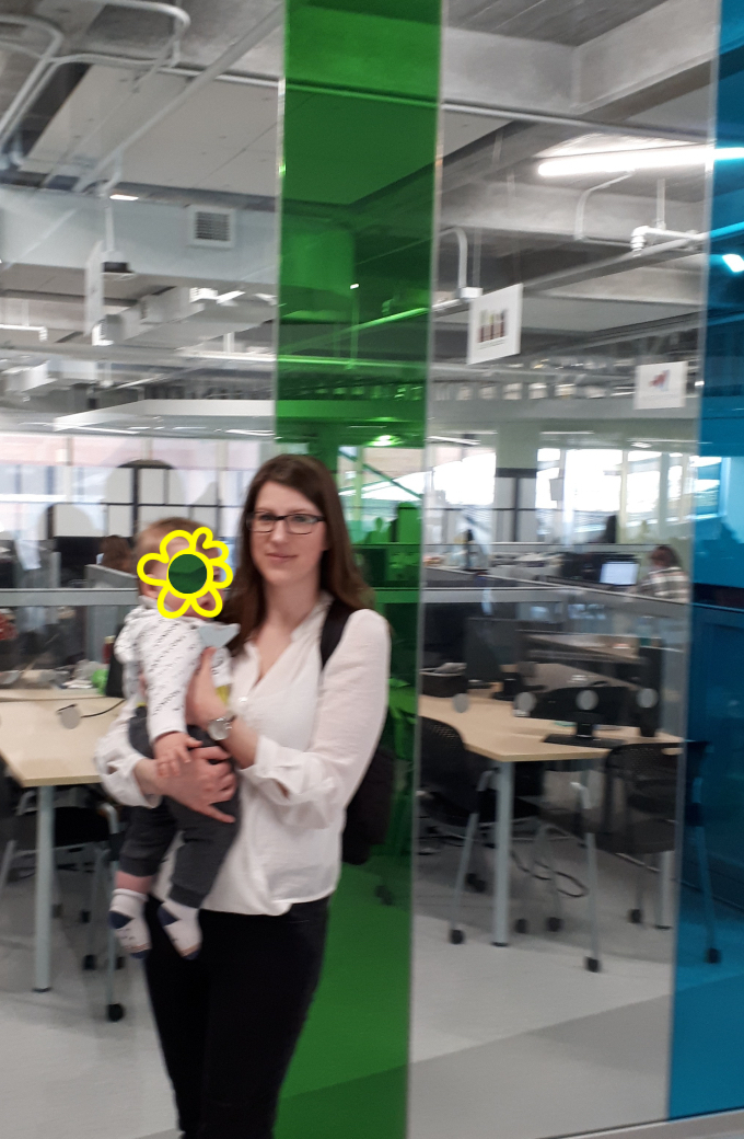 Amy Lynch with Baby: Algonquin College DARE District 2019
