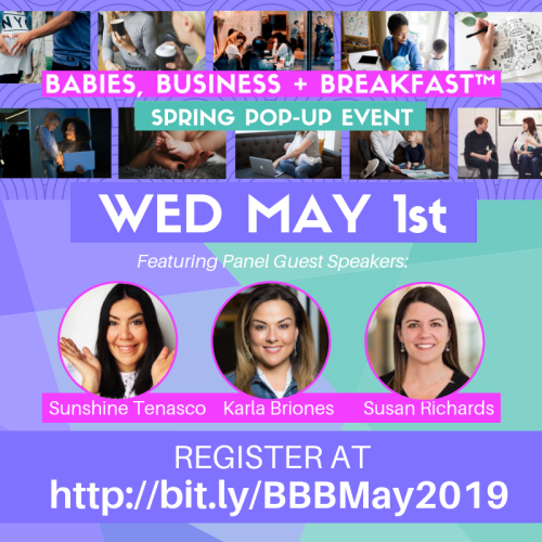 BBB Spring Pop-Up Event May 1st 2019 Guest Speaker Lineup