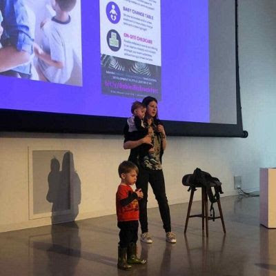 Amy Lynch and family at CreativeMornings Ottawa