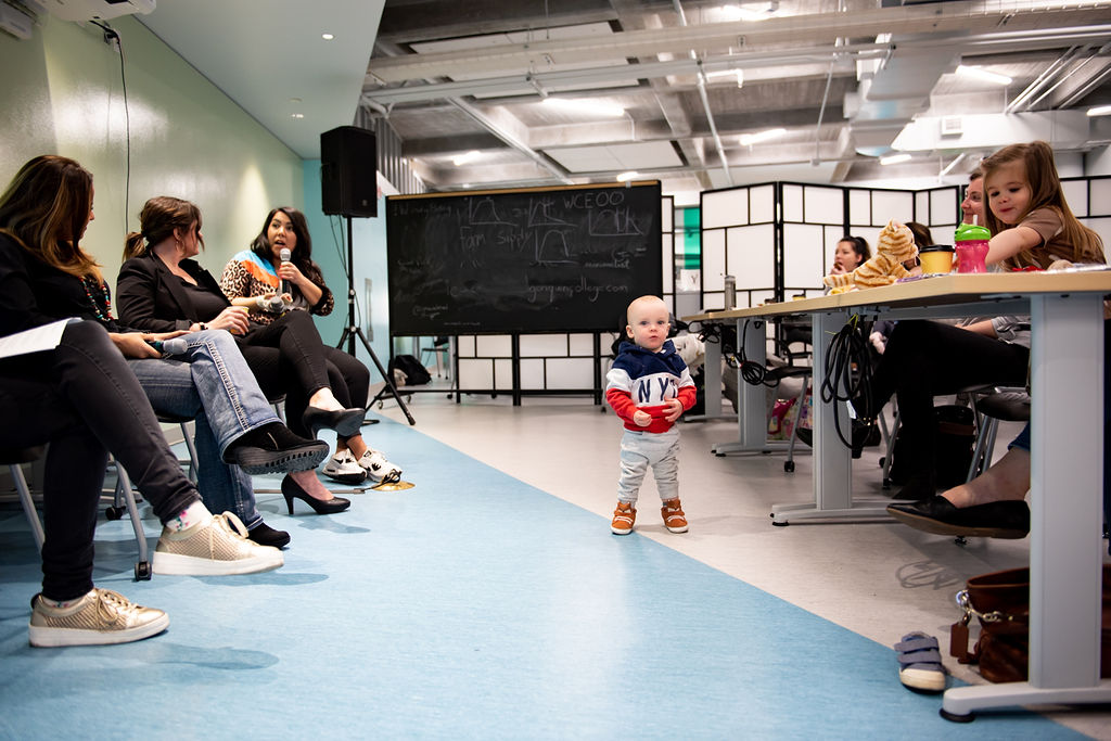 Babies, Business + Breakfast Spring 2019 Pop-Up Event. Photo by Charlene from Van Veit Creative