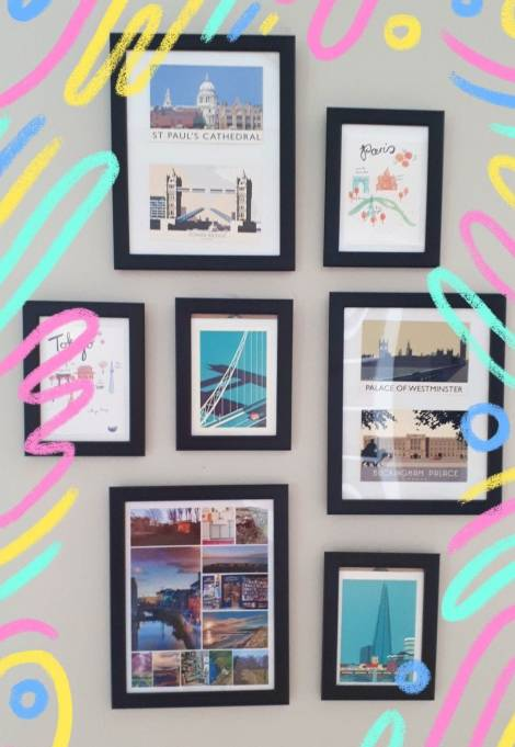 Notes From Another Land | Travel Gallery Wall Vision Board | Amy Maureen Lynch