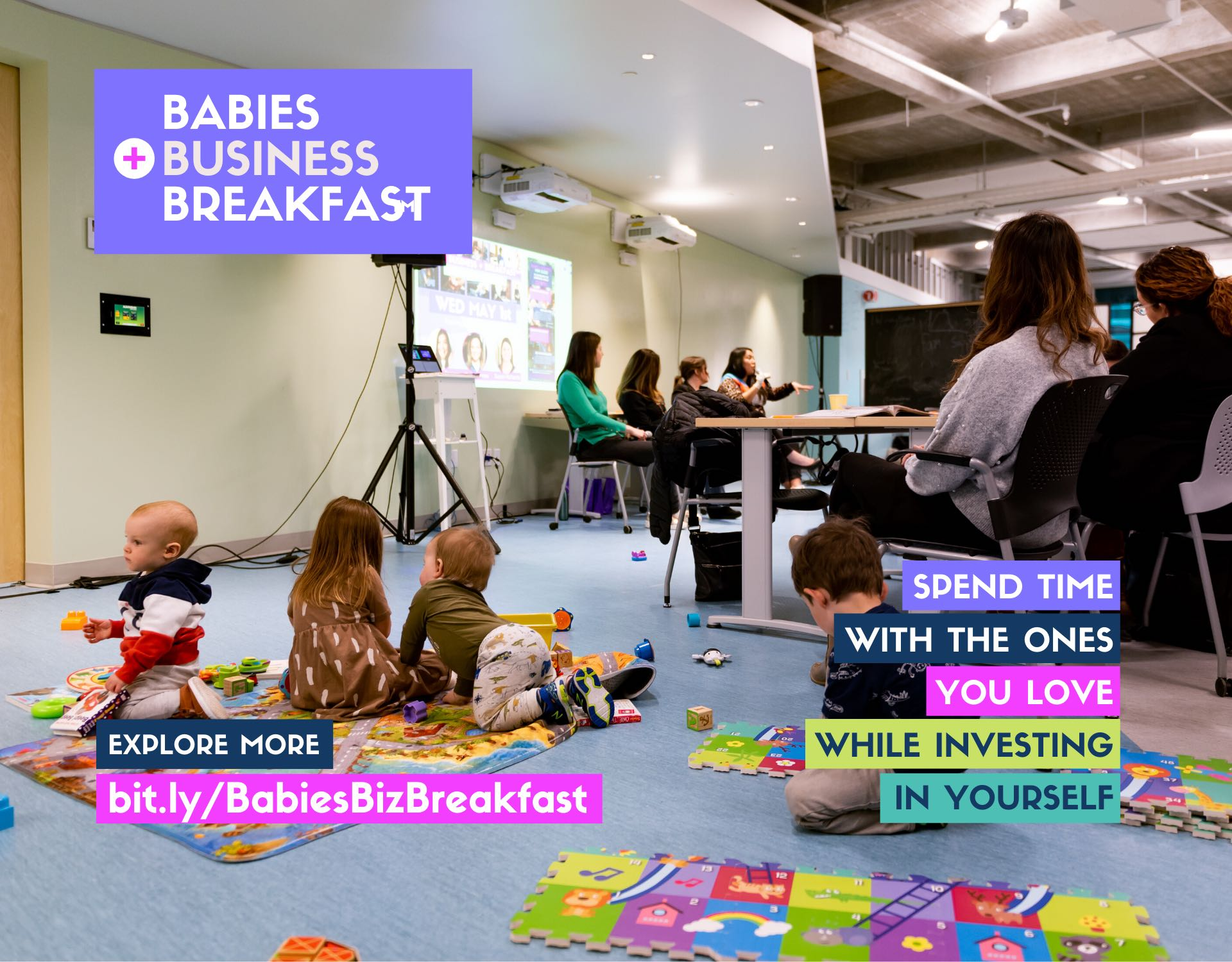 Babies, Business + Breakfast Event Header