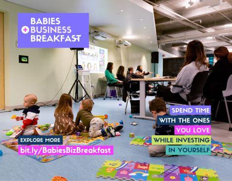 Babies, Business + Breakfast Event Header
