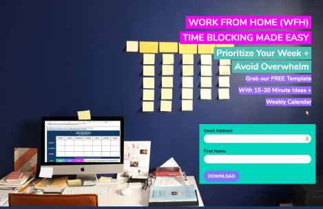 Notes From Another Land | Amy Maureen Lynch | Work From Home Time Blocking Made Easy Template