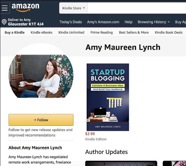 Startup Blogging: Validate A Business Idea and Build Your Audience by Amy Maureen Lynch is now available for pre-order through Amazon, delivered on April 24, 2020.