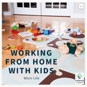 Working From Home With Kids Mom Life | Amy Maureen Lynch | IGTV Interview for Treehouse Medical
