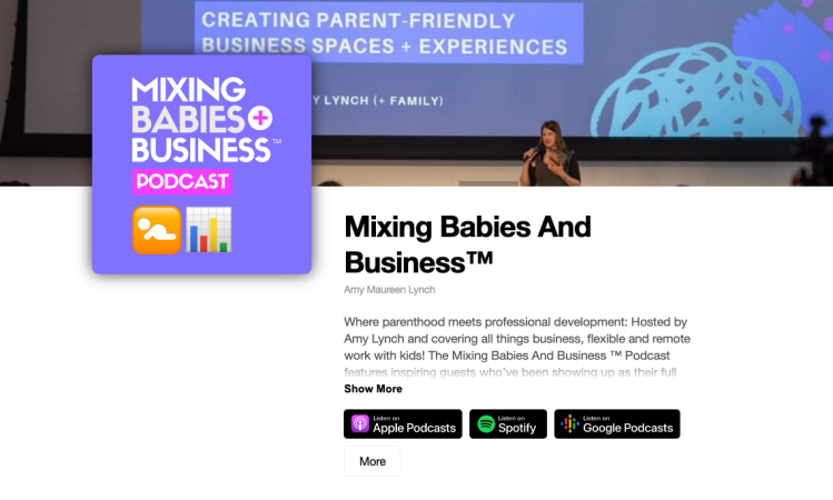 Mixing Babies And Business Podcast by Amy Maureen Lynch