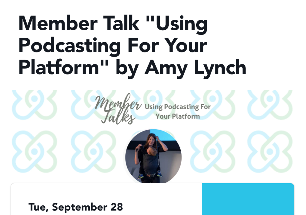 Global Invest Her network podcasting Member Talk with Amy Lynch